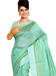 Turquoise Weaving Casual Saree
