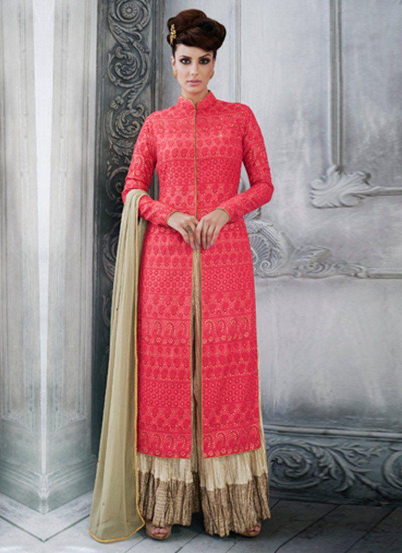 Tussar Silk Designer Palazzo Suit