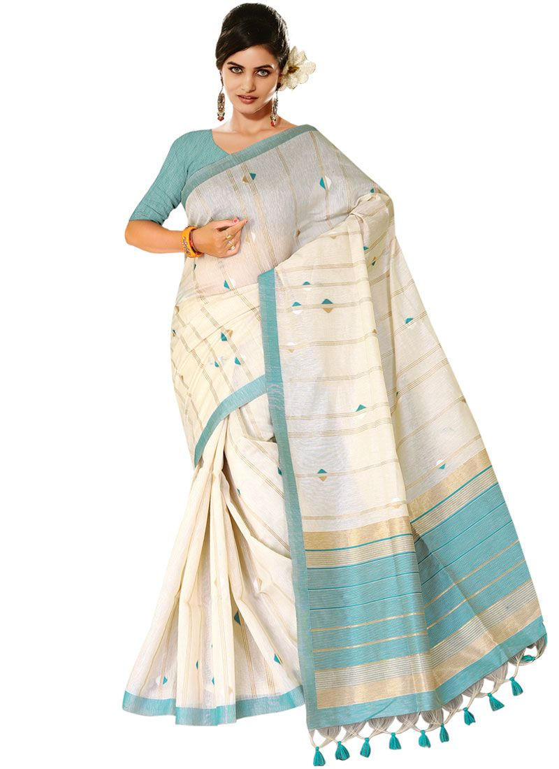 Tussar Silk Designer Traditional Saree