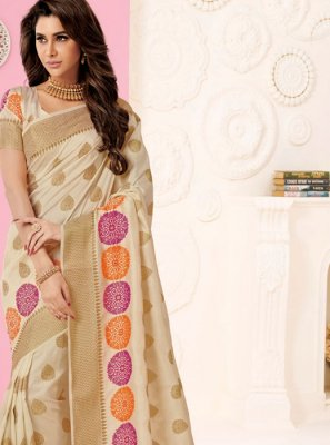 Tussar Silk Designer Traditional Saree