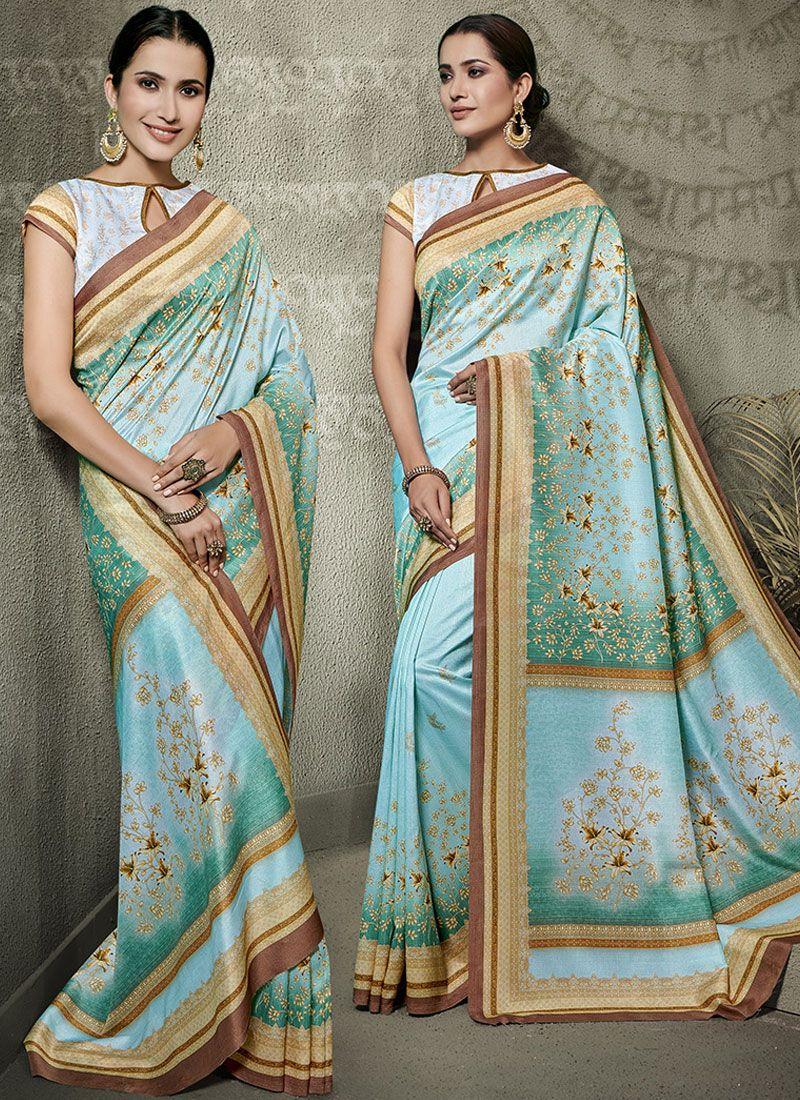 Tussar Silk Designer Traditional Saree in Multi Colour
