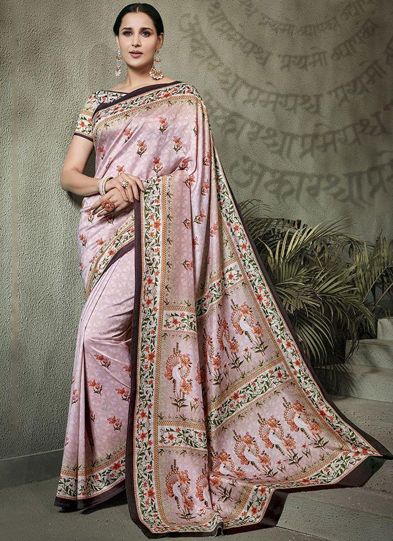 Tussar Silk Digital Print Multi Colour Traditional Designer Saree