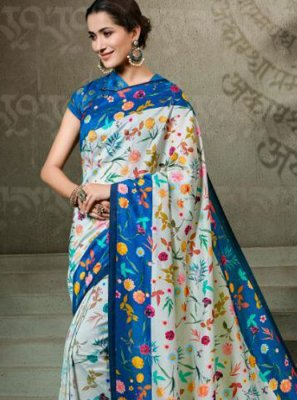 Tussar Silk Digital Print Multi Colour Traditional Saree