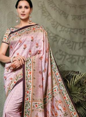 Tussar Silk Digital Print Trendy Saree