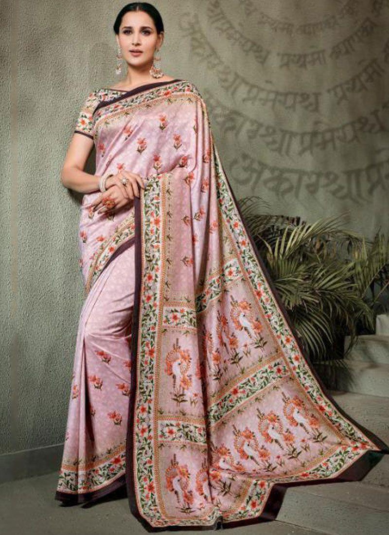 Tussar Silk Digital Print Trendy Saree