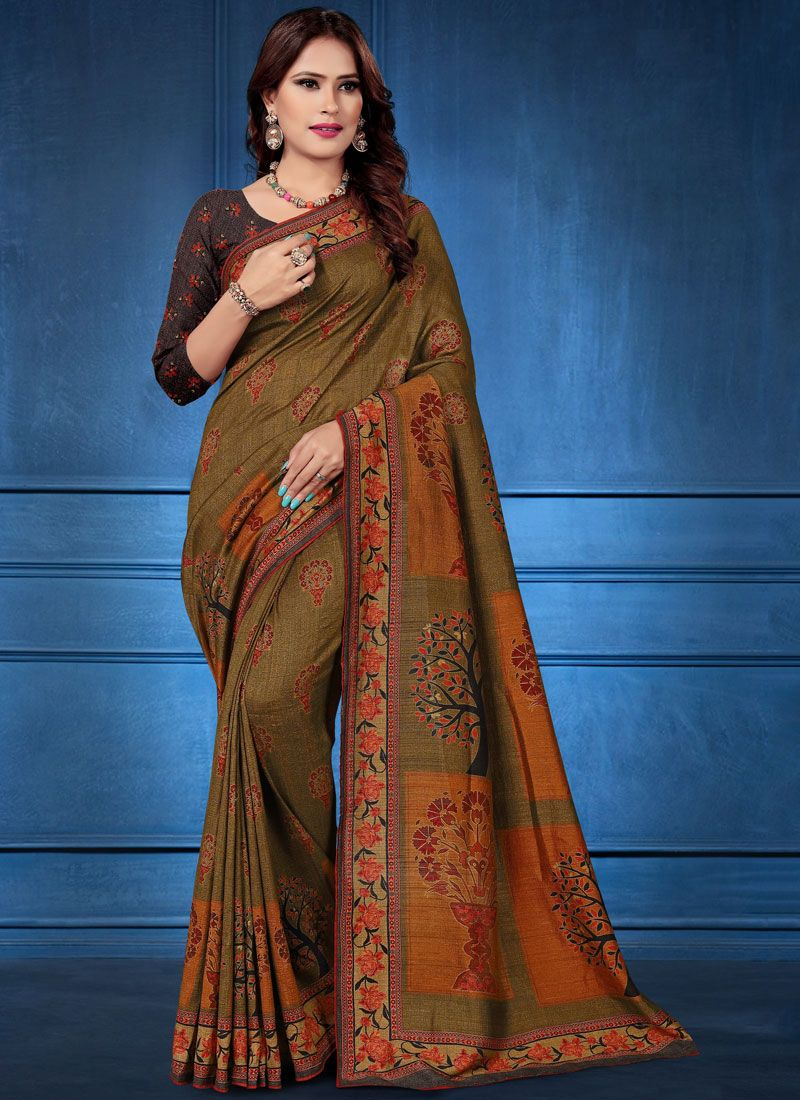 Tussar Silk Multi Colour Classic Designer Saree