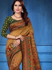 Tussar Silk Multi Colour Designer Saree