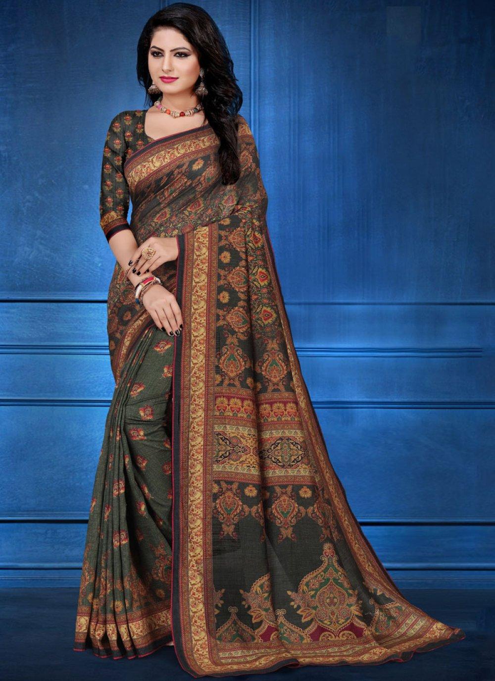 Tussar Silk Multi Colour Designer Traditional Saree