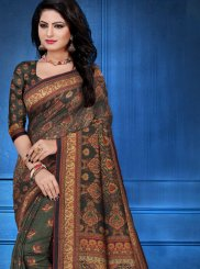Tussar Silk Multi Colour Designer Traditional Saree