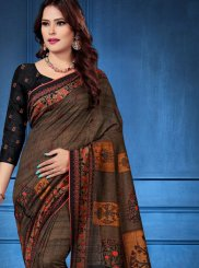 Tussar Silk Multi Colour Trendy Saree