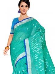 Tussar Silk Traditional Designer Saree in Sea Green