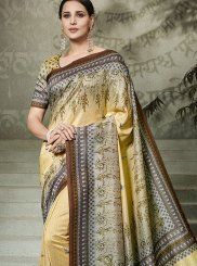 Tussar Silk Traditional Saree in Multi Colour