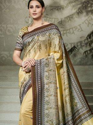 Tussar Silk Traditional Saree in Multi Colour