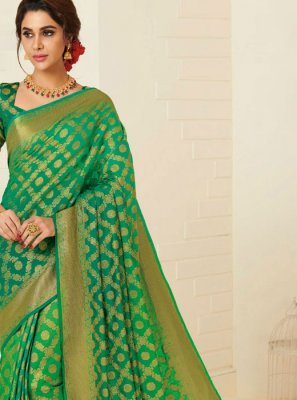 Tussar Silk Weaving Designer Traditional Saree