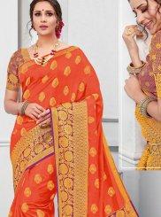 Tussar Silk Wedding Designer Traditional Saree