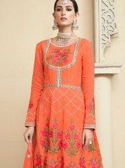 Uppada Silk Embroidered Designer Palazzo Salwar Kameez