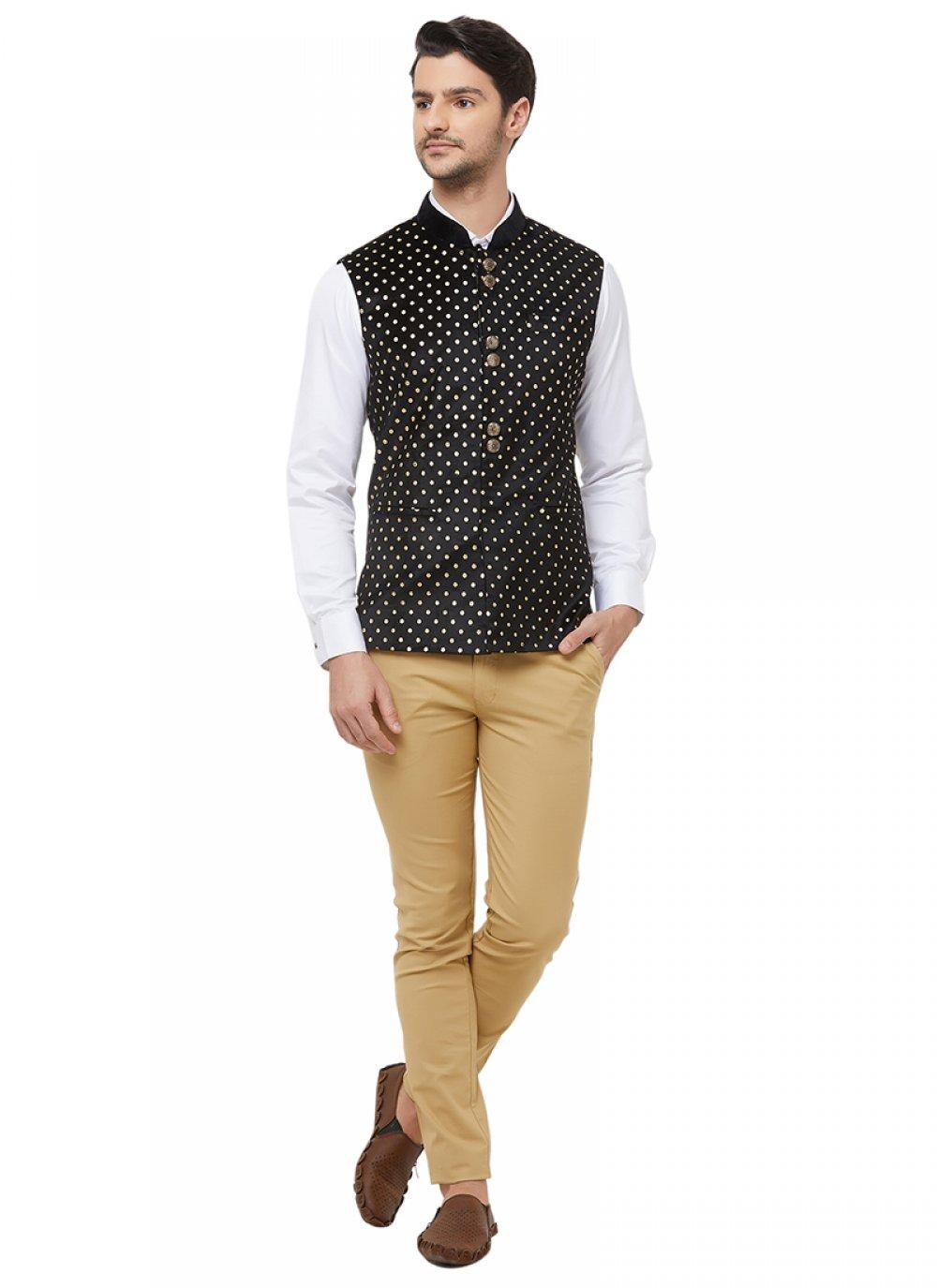 Velvet Black Nehru Jackets