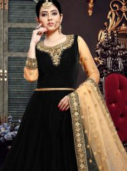Velvet Ceremonial Floor Length Anarkali Suit