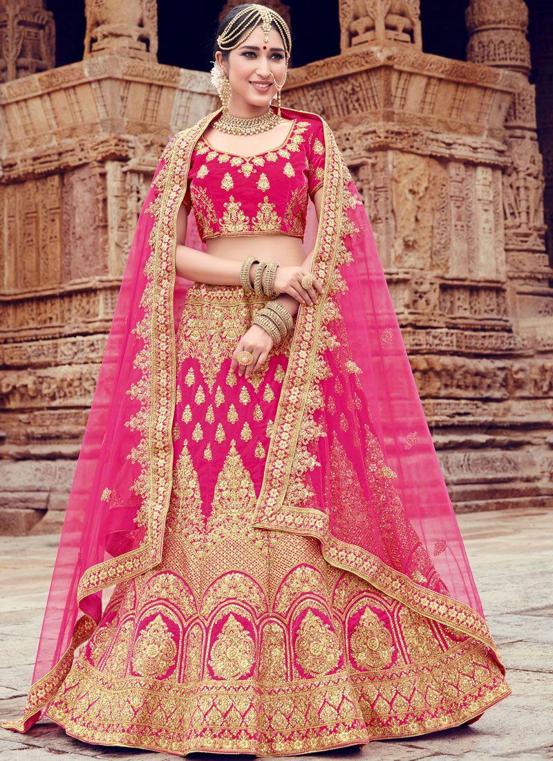 Velvet Embroidered Pink Trendy Lehenga Choli
