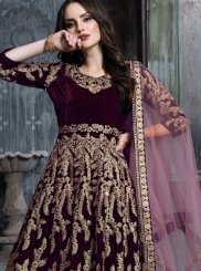 Velvet Floor Length Anarkali Suit