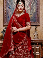 Velvet Wedding Lehenga Choli