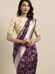 Violet Weaving Art Silk Casual Saree