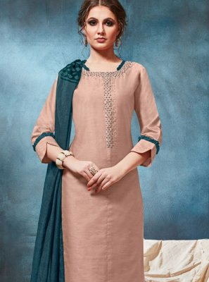 Viscose Brown Readymade Suit