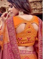 Viscose Classic Saree in Orange