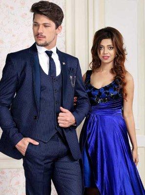 Viscose Coats & Blazers in Blue
