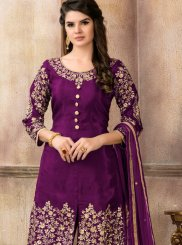 Viscose Designer Pakistani Suit in Purple