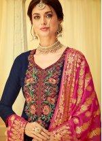 Viscose Embroidered Designer Salwar Kameez