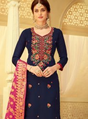 Viscose Embroidered Designer Salwar Kameez