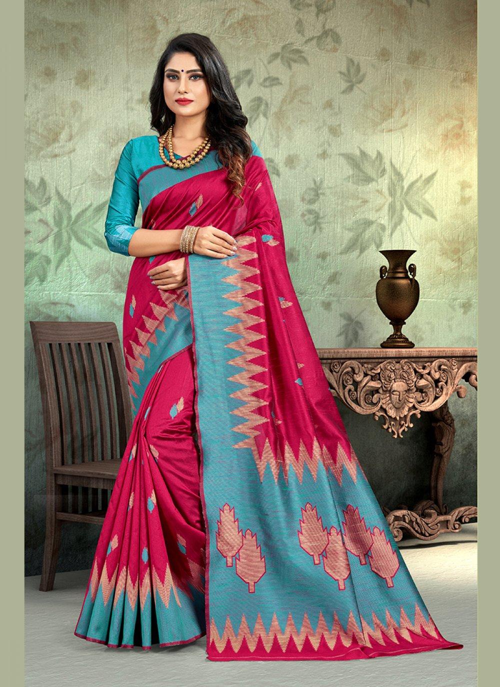 Weaving Art Silk Designer Traditional Saree