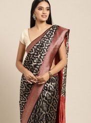 Weaving Art Silk Silk Saree in Black