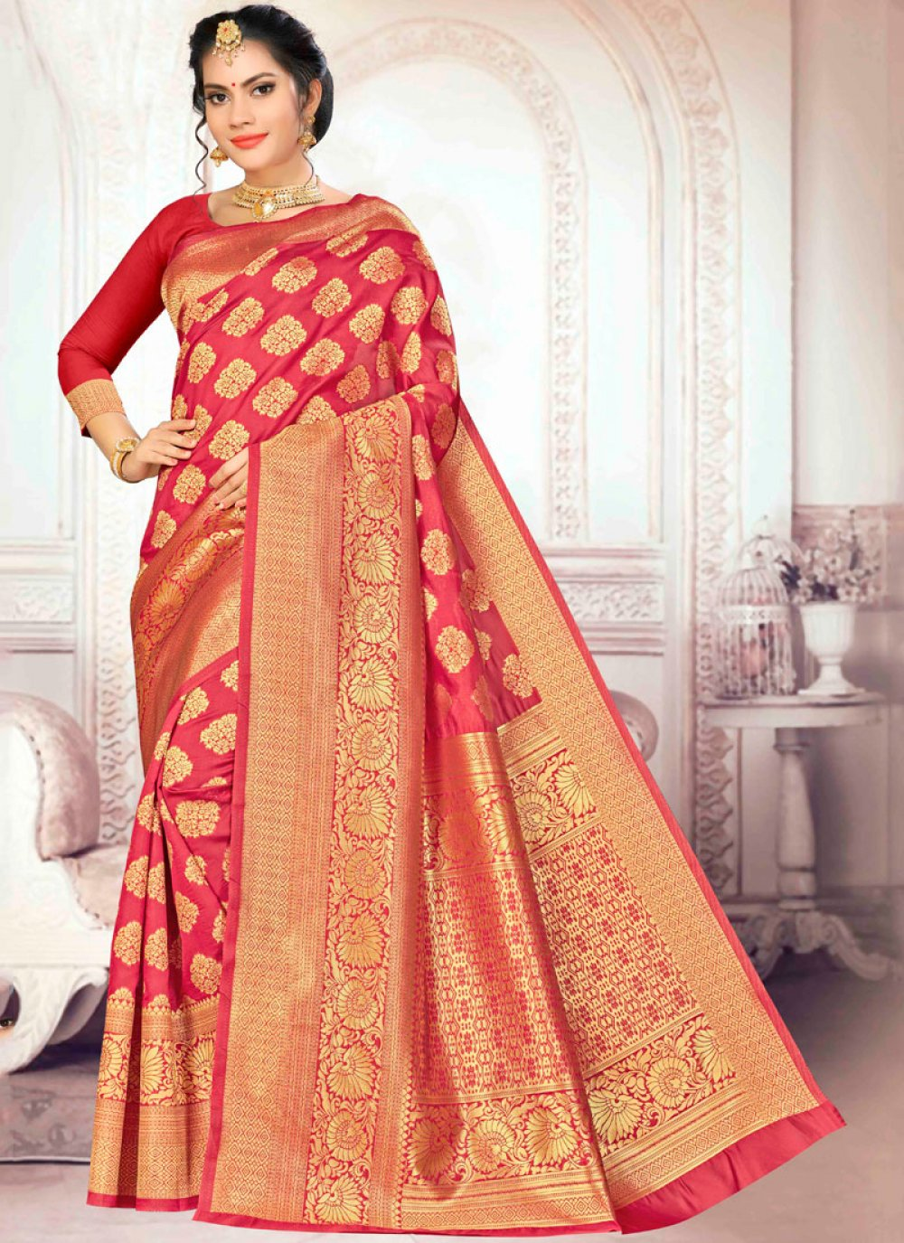 Weaving Art Silk Traditional Saree