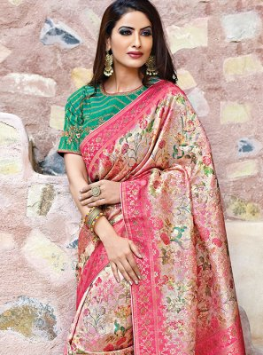 Weaving Art Silk Traditional Saree in Multi Colour