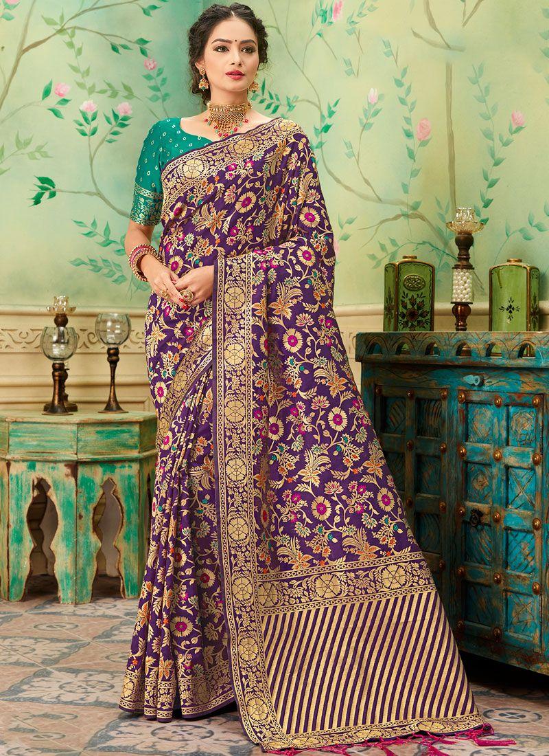 Weaving Banarasi Silk Silk Saree