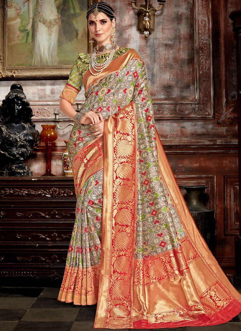 Weaving Bhagalpuri Silk Traditional Saree