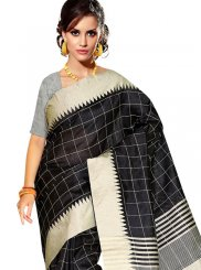 Weaving Black Traditional Saree