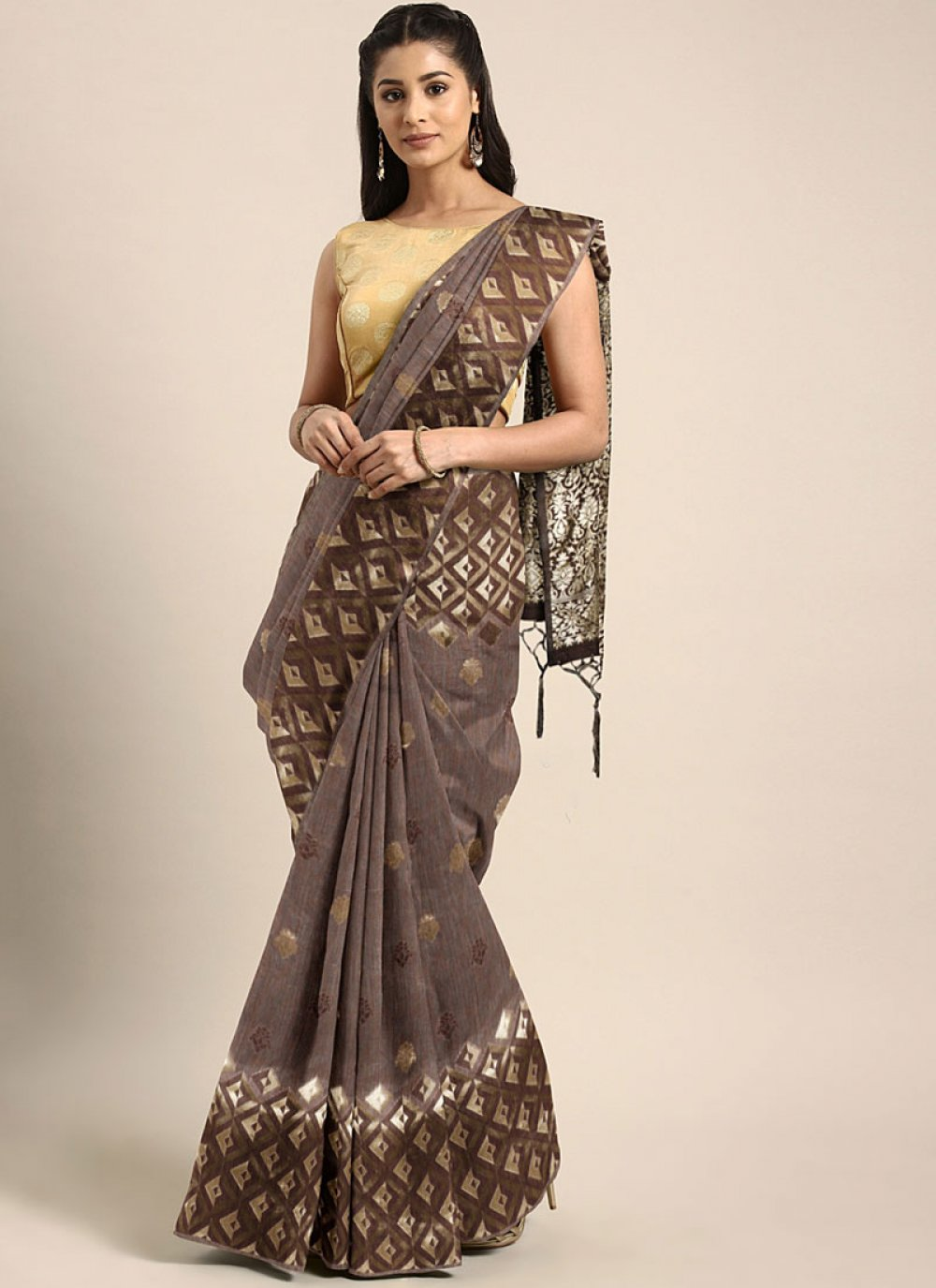 Weaving Casual Classic Designer Saree
