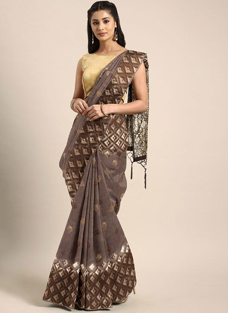 Weaving Casual Classic Designer Saree