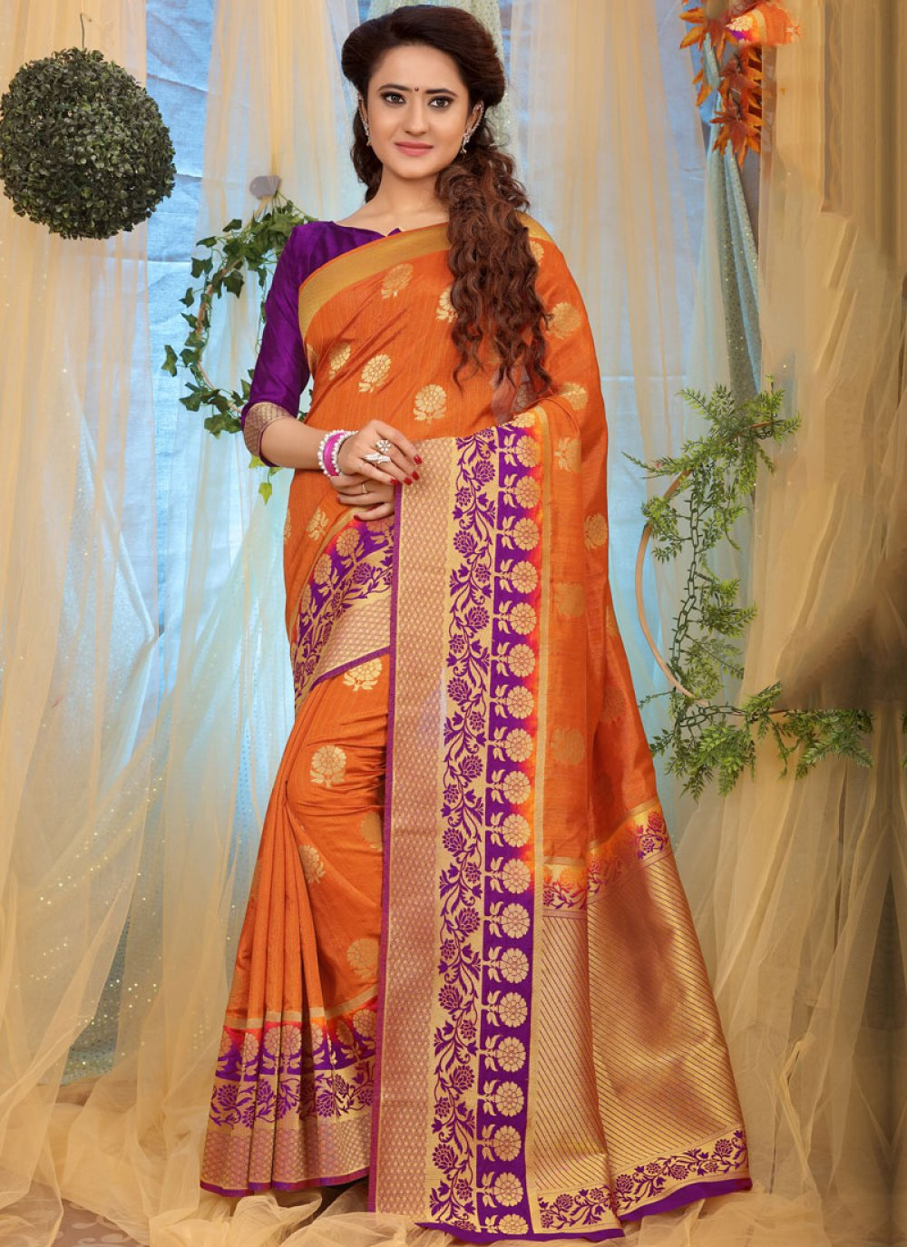 Weaving Fancy Fabric Designer Traditional Saree