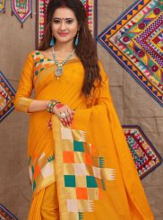 Weaving Fancy Fabric Designer Traditional Saree in Yellow