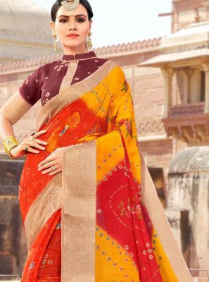 Weaving Fancy Fabric Shaded Saree