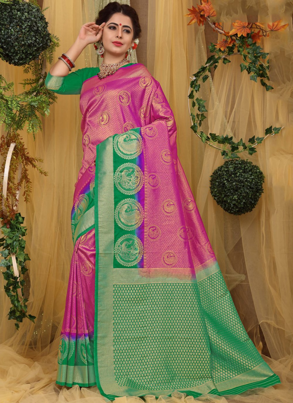 Weaving Fancy Fabric Traditional Saree