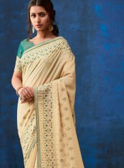 Weaving Faux Georgette Saree