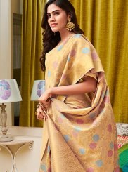 Weaving Gold Art Silk Designer Traditional Saree