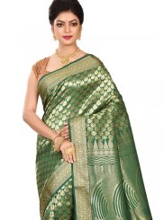 Weaving Green Art Silk Traditional Designer Saree