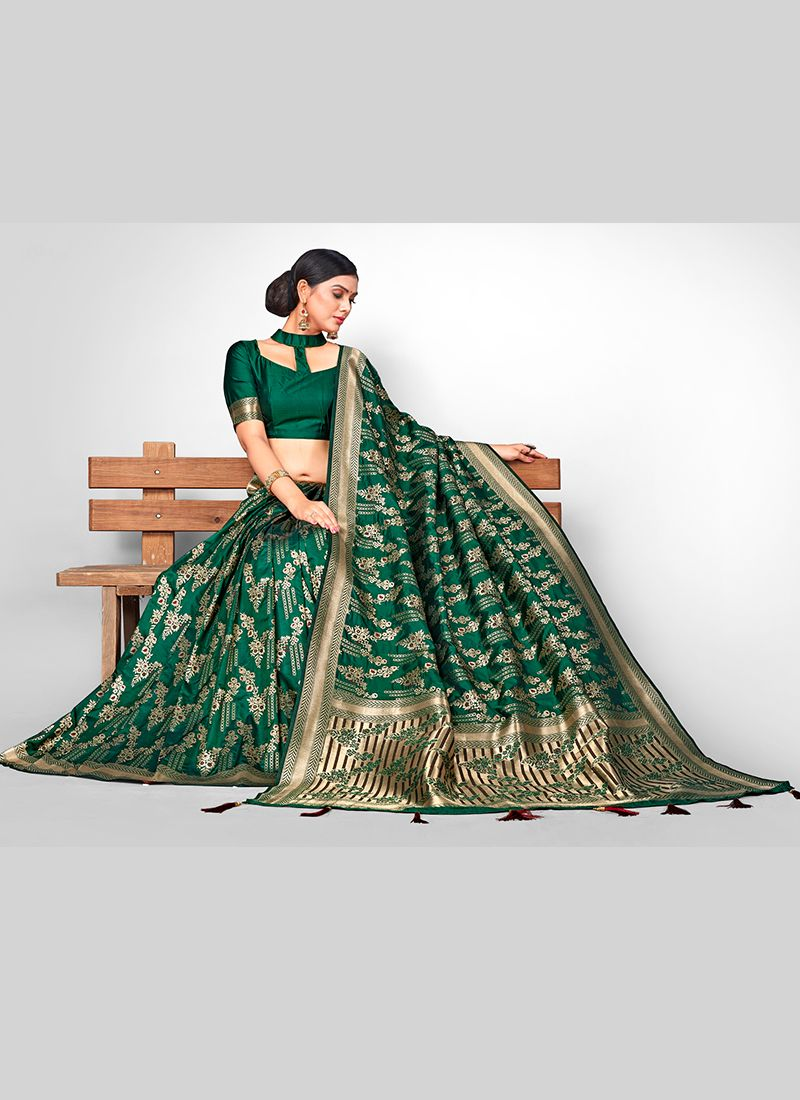 Weaving Green Designer Traditional Saree