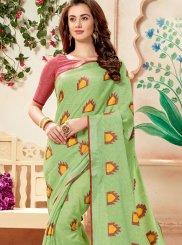 Weaving Green Trendy Saree